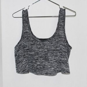 Almost Famous Grey Crop Tank  Top